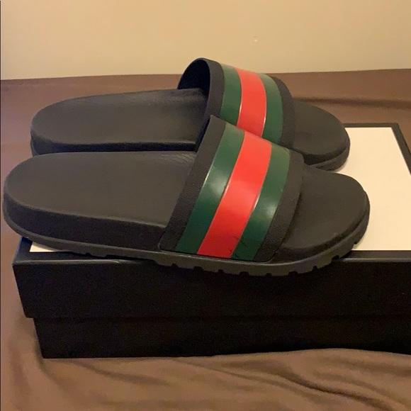 6646b3eaf0955e Gucci Other - Gucci Flip Flops Slides Black Red Green